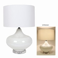 White Table Lamp 66cm