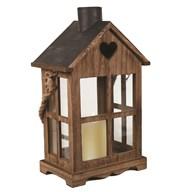 Wooden House Lantern 41.5cm