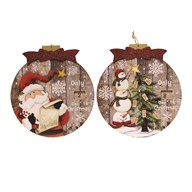 Wooden LED Advent Plaque 2 Assorted