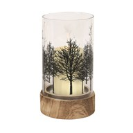 Woodland Pillar Candle Holder 20cm