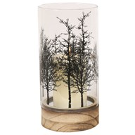 Woodland Pillar Candle Holder 23.5cm