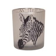 Zebra Tealight Holder 10cm