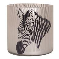 Zebra Tealight Holder 15cm