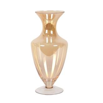 Amber Lustre Urn Glass Vase 30cm