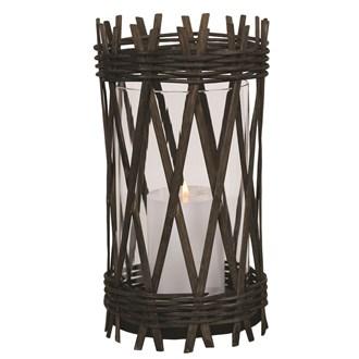 Dark Wicker Lantern 27.5cm