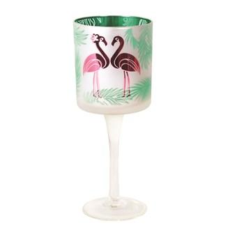 Flamingo Tealight Holder 25cm