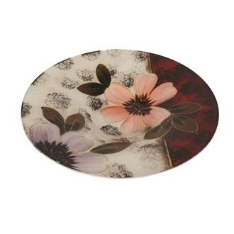 Floral Decor Round Bowl 36cm