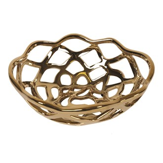 Gold Decorative Bowl 26cm