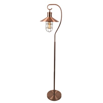 Copper Floor Lamp with Cage 157cm