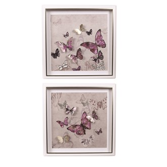 Butterflies Wall Art 45cm 2 Assorted