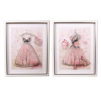 Gown Wall Art 45x55cm 2 Assorted