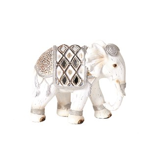 Decorative Elephant White 14cm