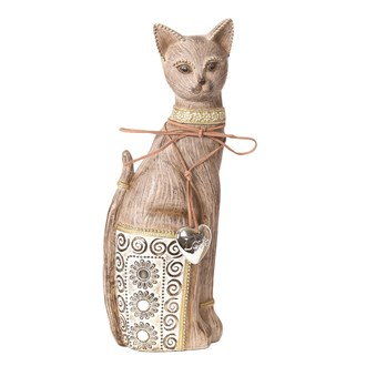 Decorative Cat Brown 32cm