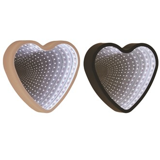 LED Heart Infinity Mirror 25cm 2 Assorted