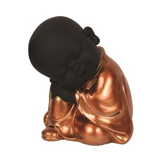 Copper & Black Sleeping Buddha 20cm