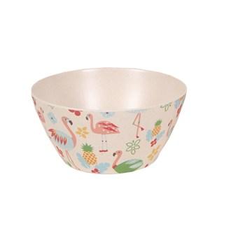Flamingo Bamboo Bowl 15cm