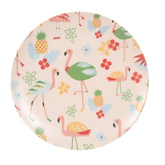 Flamingo Bamboo Plate 25cm