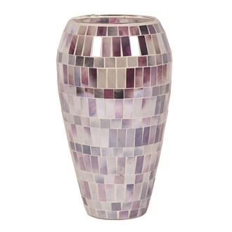 Purple Mosaic Vase 25cm