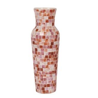 Coral Mosaic Vase 35cm