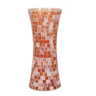 Coral Mosaic Waisted Vase 30cm