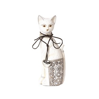 Decorative White Cat 26cm