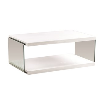 White Gloss Coffee Table 110cm