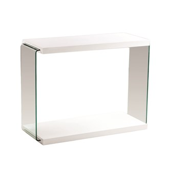 White Gloss Console Table 100cm