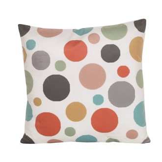 Retro Print Polka Dot Cushion 45cm