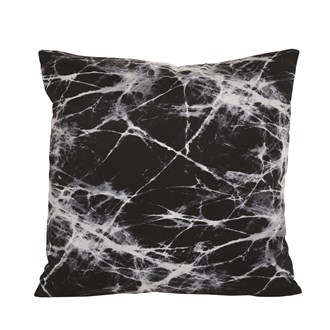 Black Marble Cushion 45cm