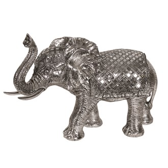 Silver Elephant Decor 49cm