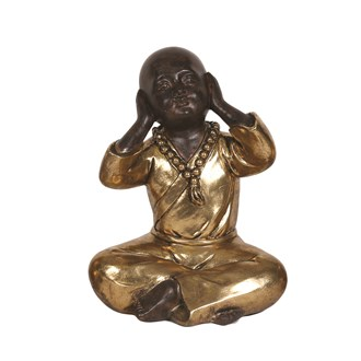Gold Hear No Evil Buddha 22cm