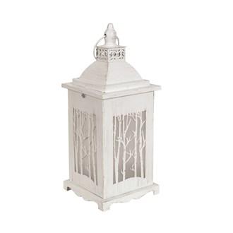 White Tree Effect LED Lantern 34cm