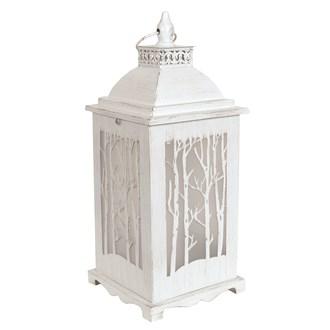 White Tree Effect LED Lantern 40cm