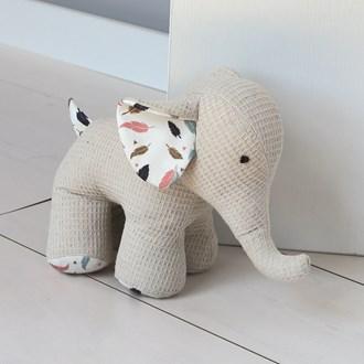Beige Elephant Doorstop 22cm