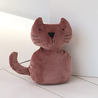 Blush Pink Cat Doorstop 30cm