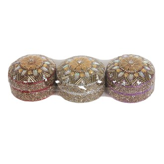 Set of 3 Jewelled Ring Boxes