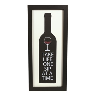 """Take Life One Sip At A Time"" Wall Art 20x41cm"