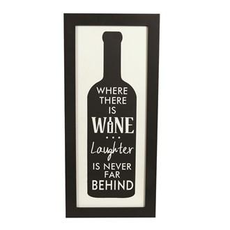 Laughter & Wine 41x20cm