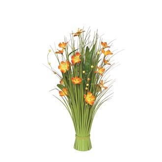 Grass Bundle Orange Flowers 70cm