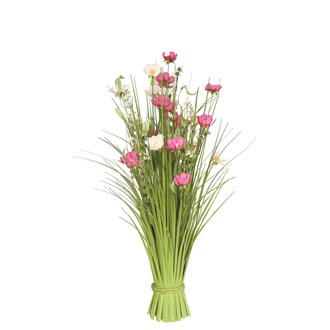 Grass Bundle Mixed Flowers 70cm