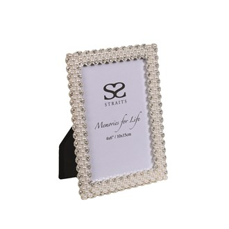 """Silver Plated Pearl Frame 4x6"""""""
