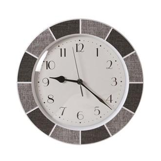 Tile Effect Clock Grey 30cm