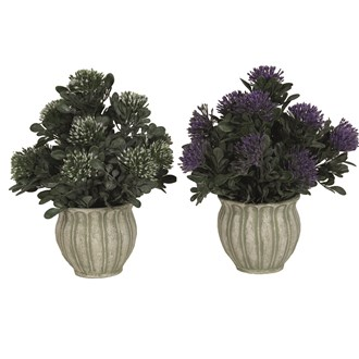 Purple Floral Urn 31cm 2 Assorted