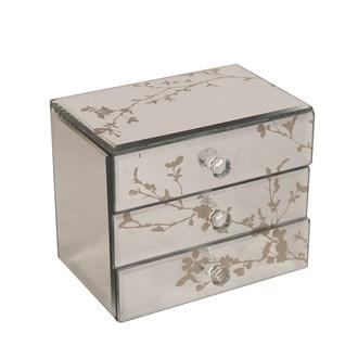 Decorative 3 Drawer Jewellery Box 15 x 12cm