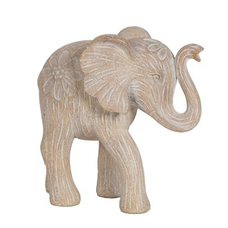 Etched Elephant Brown 20.5cm