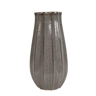Ceramic Ribbed Vase 32cm