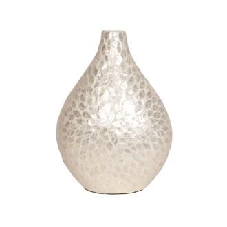 Capiz Petal Vase White 41cm