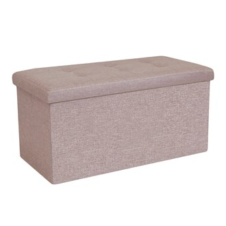 Foldable Ottoman Light Brown 76cm