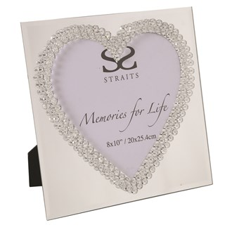 Mirror Heart Photo Frame 26cm