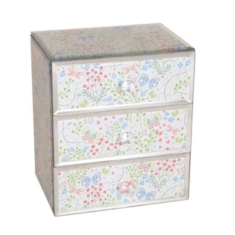 Jewellery Box Butterfly Blue 18cm